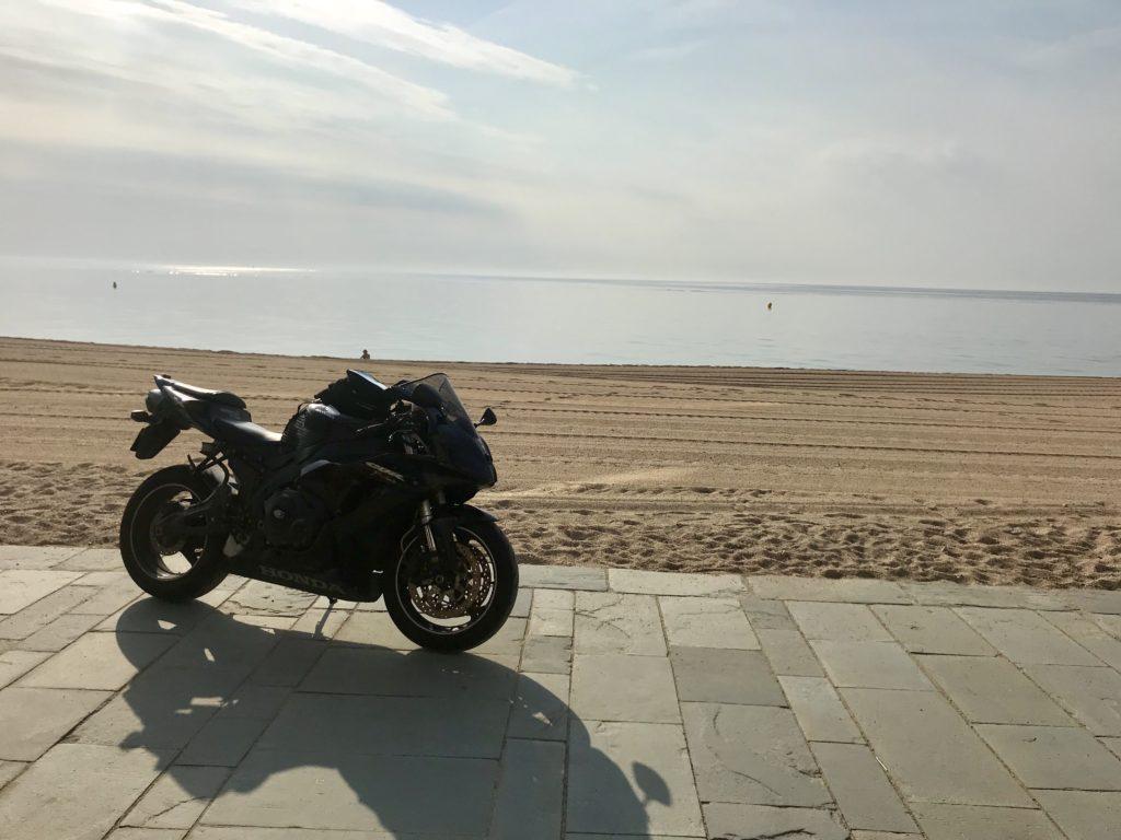 my bike at the seaside